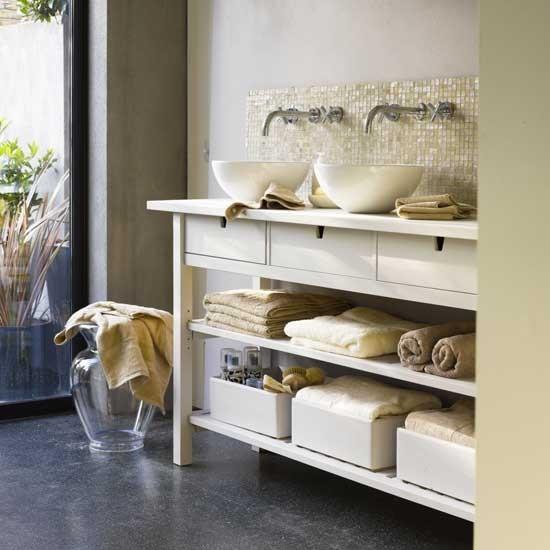 Tranquil bathroom | Bathroom idea | Console | Image | Housetohome.co.uk