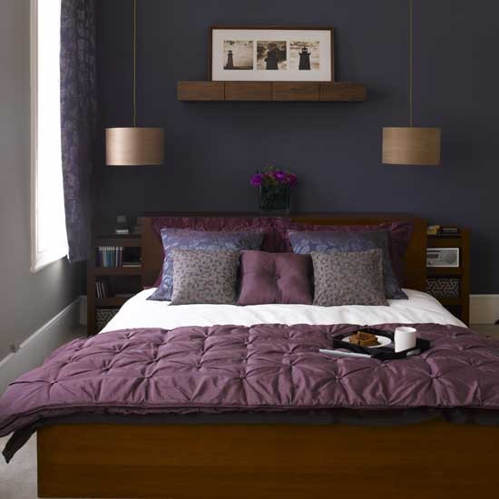 Purple modern bedroom | Bedroom furniture | Decorating ideas | Image | Housetohome