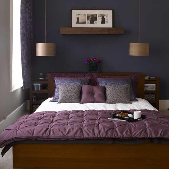 Quarto moderno Roxo | mobília do quarto | Decorando idéias | Imagem | Housetohome