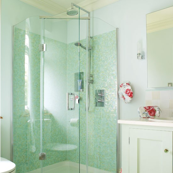 Jade bathroom | Bathroom idea | Mosaic tiles | Image | Housetohome.co.uk