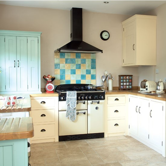 Colourful Shaker Style Kitchen Kitchen Design