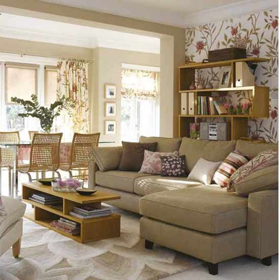 Living room with stylish wallpaper | Living room funriture | Decorating ideas | Image | Housetohome