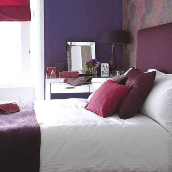 Vibrant purple bedroom   Bedroom furniture   Decorating ideas   Image   Housetohome