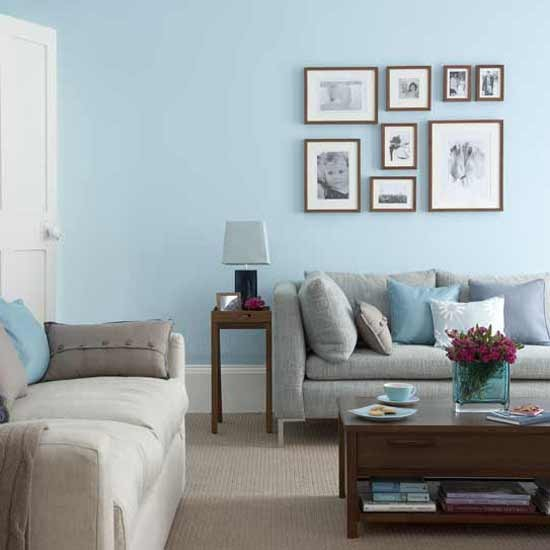 Sophisticated blue living room decorating ideas for Blue and taupe bedroom ideas