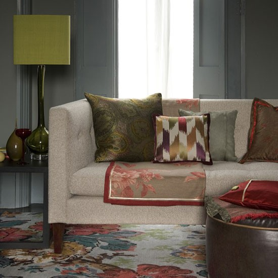 Plush living room   Decorating ideas   Image   Housetohome.co.uk