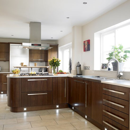 Walnut kitchen  Kitchen design  Decorating ideas  housetohome.co.uk