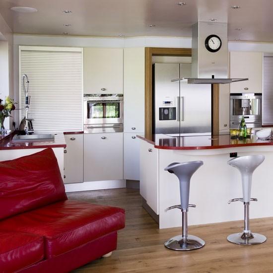 Crimson kitchen | Kitchen design | Decorating ideas | Image | Housetohome