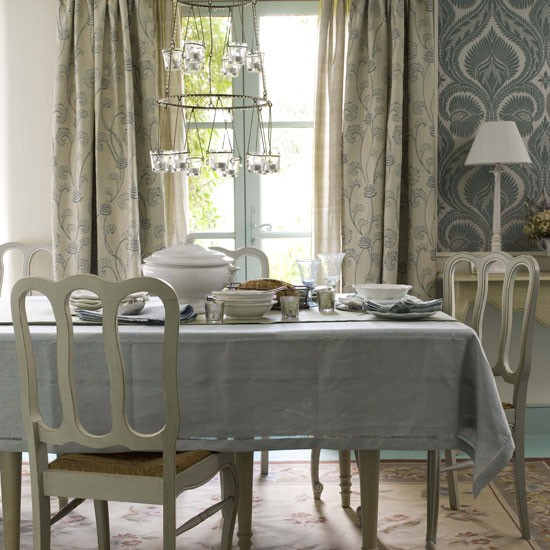 Blue Dining Room Dining Room Furniture Decorating