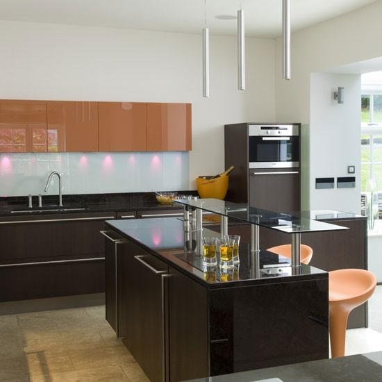 Stylish chocolate kitchen | Kitchen design | Decorating ideas | Image | Housetohome