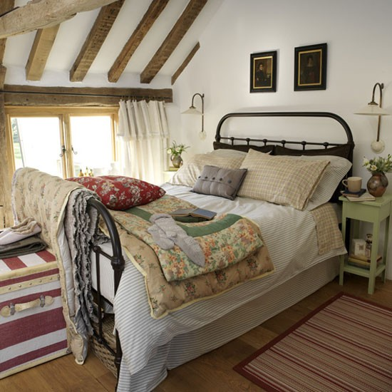 Eclectic Country Bedroom Neutral Tones