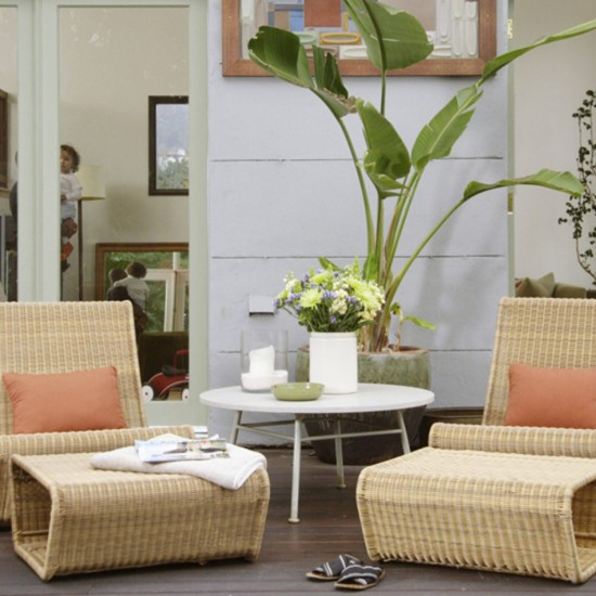 Garden living room Living room furniture Decorating