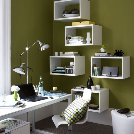 Modern green home office | Office furniture | Decorating ideas | Image | Housetohome