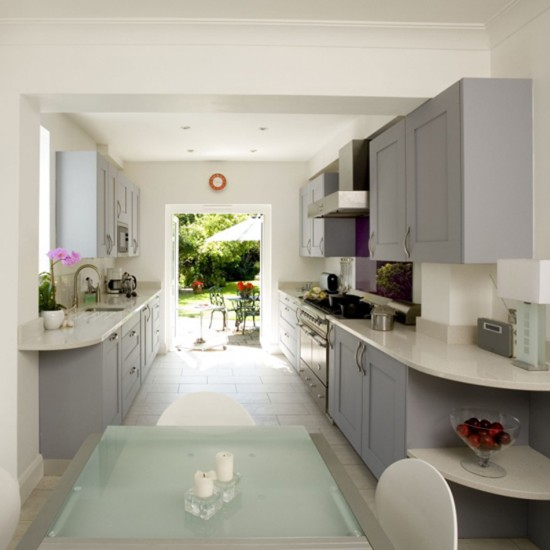 Small galley kitchen with dining area designs uk home for Galley kitchen accessories