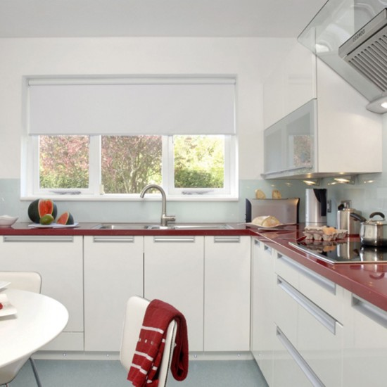 Red And White Kitchen Design Decorating Ideas