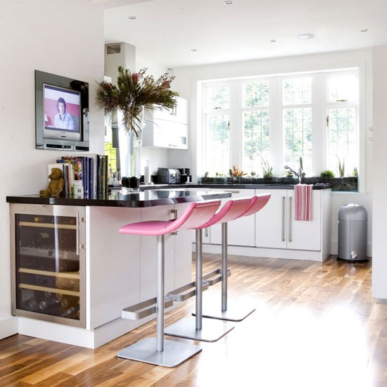 Pink and white kitchen | Kitchen design | Decorating ideas | Image | Housetohome