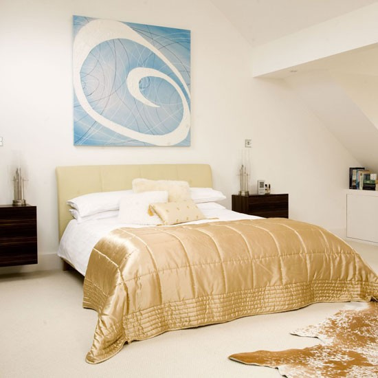 Neutral and gold bedroom gold ten ideas to decorate for Gold bedroom designs