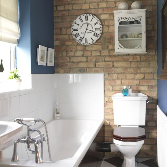 Blue and white bathroom | Small bathroom design ideas | Bathroom decorating ideas | Bathroom storage | PHOTO GALLERY | Housetohome