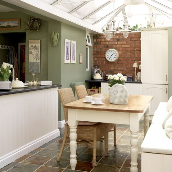 Rustic conservatory dining room | Dining room furniture | Decorating ideas | Image | Housetohome