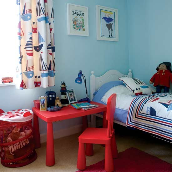 Nautical-themed boy's bedroom