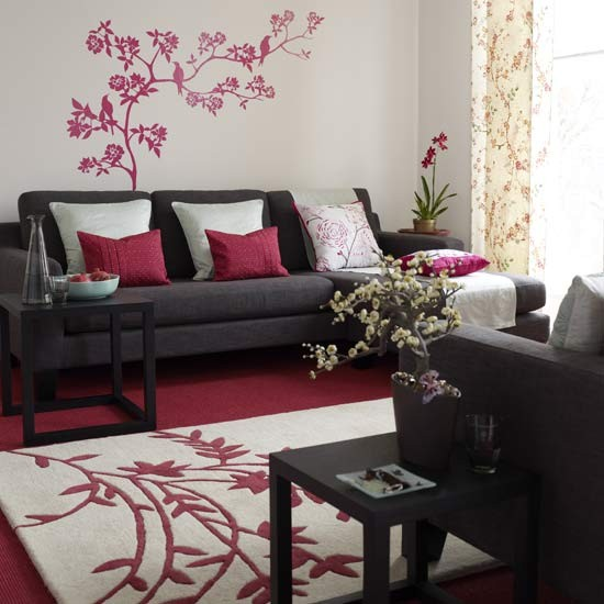Oriental style living room living room furniture for Oriental sofa designs