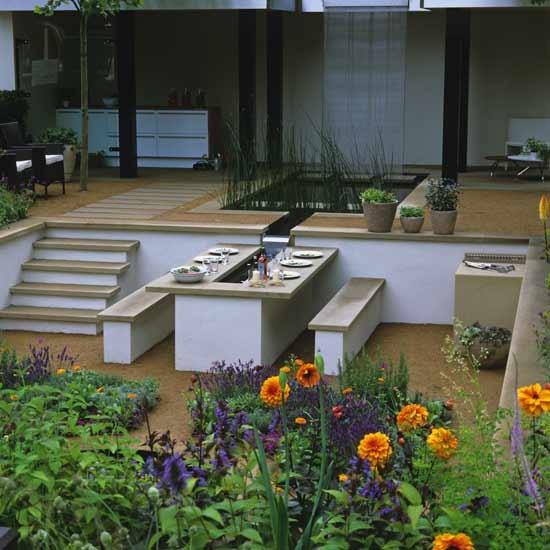 Sunken garden dining area | Garden ideas | Image | Housetohome