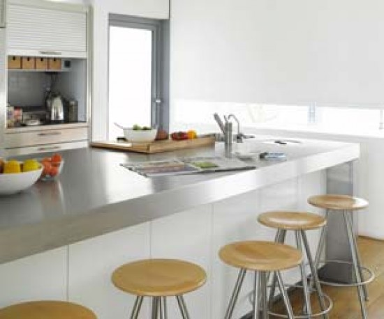 A breakfast bar can be great addition to a family kitchen