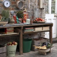 Garden with work space