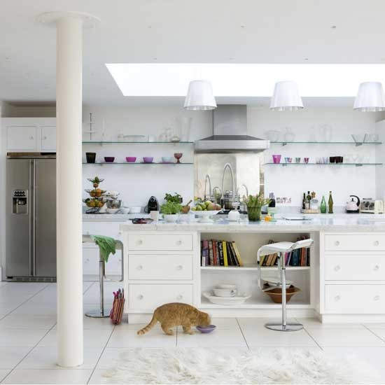 White modern kitchen | Kitchen design | Decorating ideas | Image | Housetohome