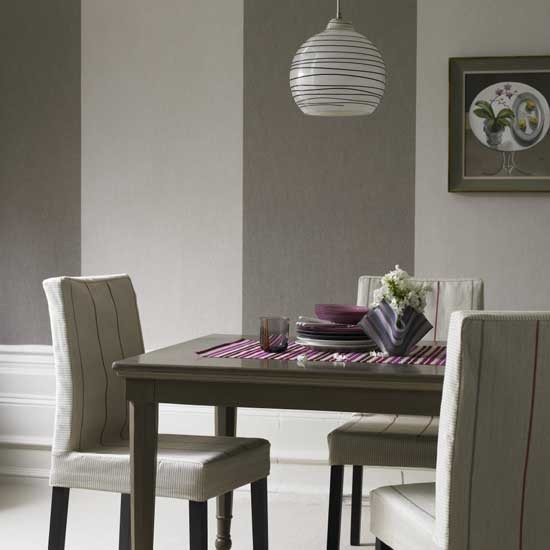 Striped dining room | Dining room furniture | Decorating ideas | Image | Housetohome