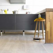 Wood flooring comes in many options - and looks so smart in a kitchen