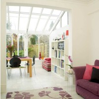 Open-plan conservatory