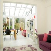 Open-plan conservatory