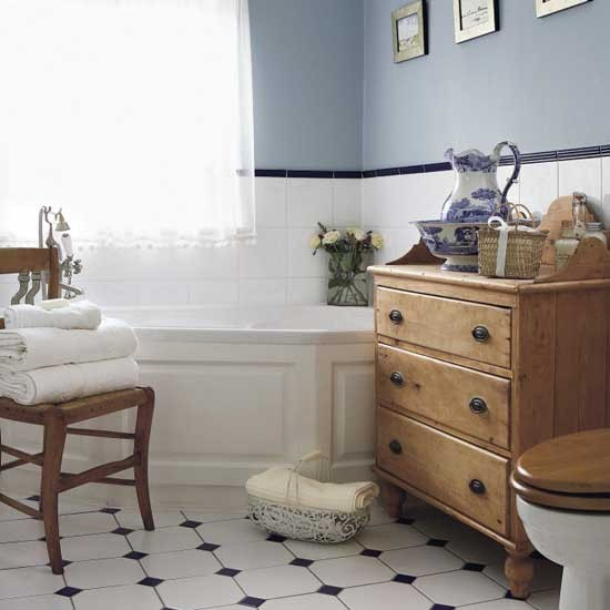 Country style Bathroom Housetohomecouk