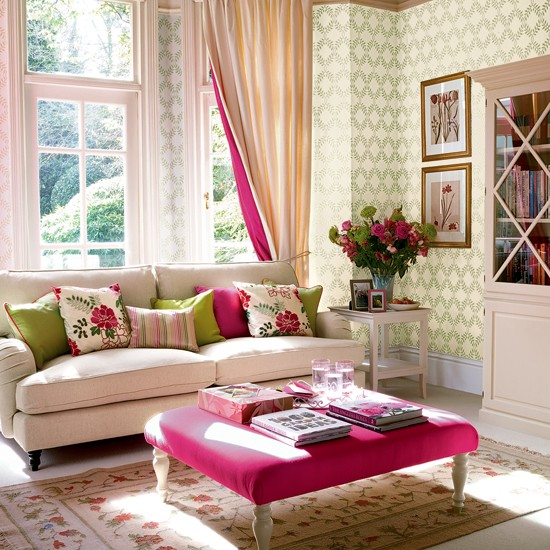 Bright accents living room | Living room furniture | Decorating ideas | Image | Housetohome