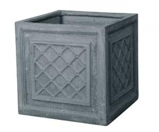 Fibre clay square pot - Homebase | Outdoor pots | Plant pot ...