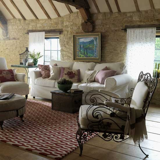 Provencal style living room