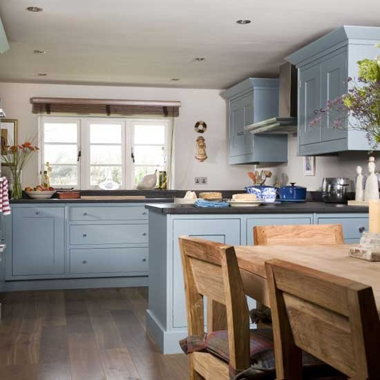 Blue kitchen cabinets - Country style kitchens ...
