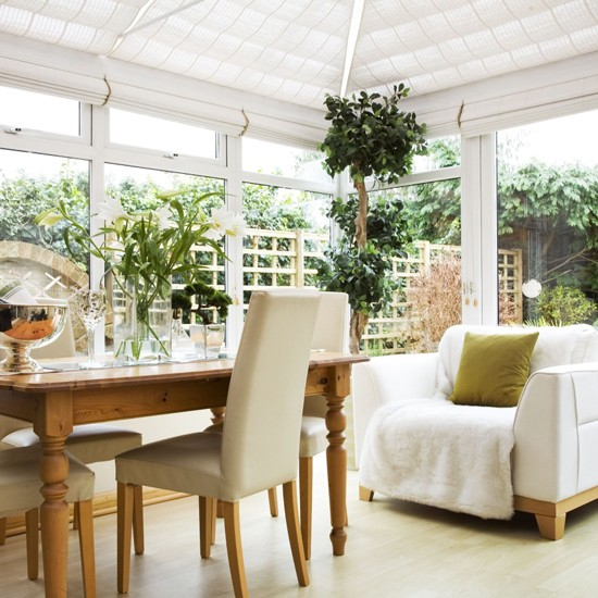 White conservatory conservatory ideas for Conservatory dining room design ideas