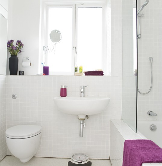 Bathroom Ideas White Tub : All white bathroom housetohome