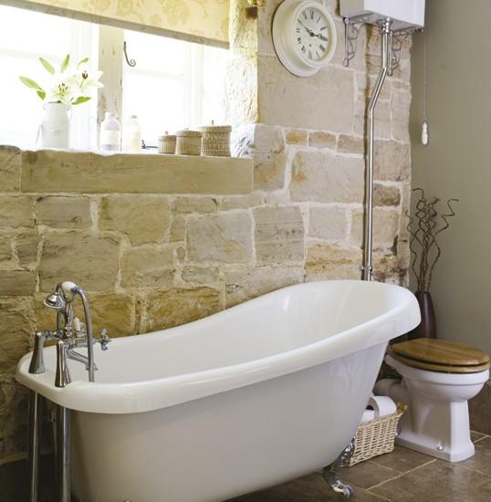 Traditional bathroom | Bathroom idea | Roll-top bath | Image | Housetohome.co.uk
