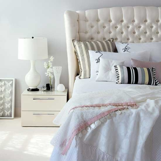 H&G white bedroom - housetohome