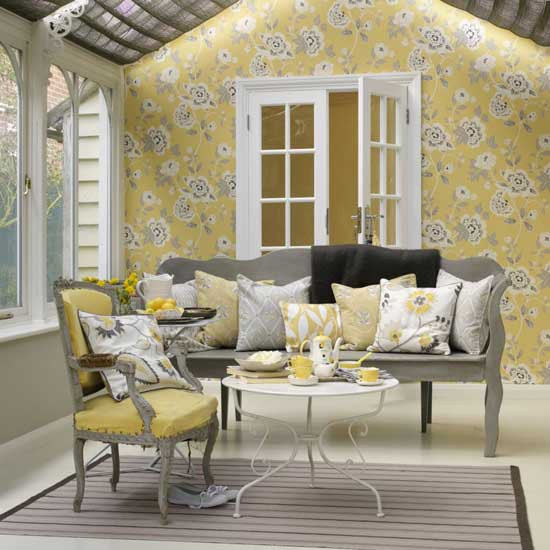 Yellow and grey living room housetohome co uk