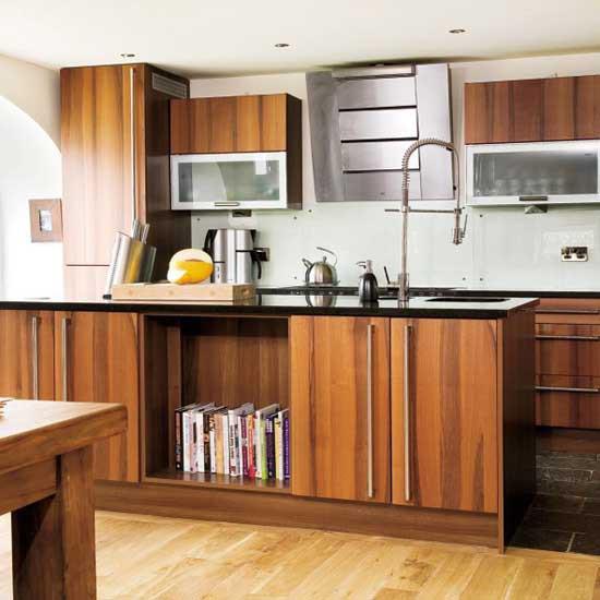 Walnut kitchen BH image - housetohome