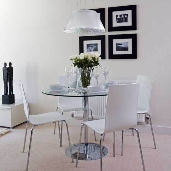 Monochrome dining room 25BH image - housetohome