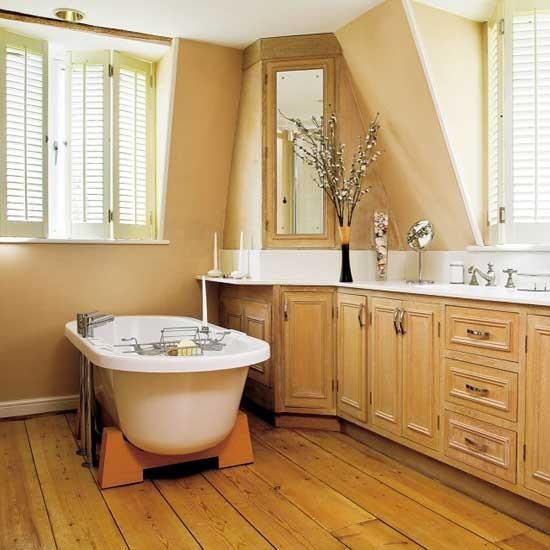 Warm bathroom | Bathroom idea | Shutters | Image | Housetohome.co.uk