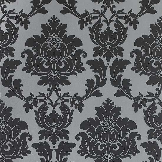 black damask wallpaper on - photo #34