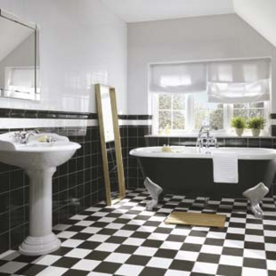 Black bathroom floor tile memes for Latest trends in bathroom flooring