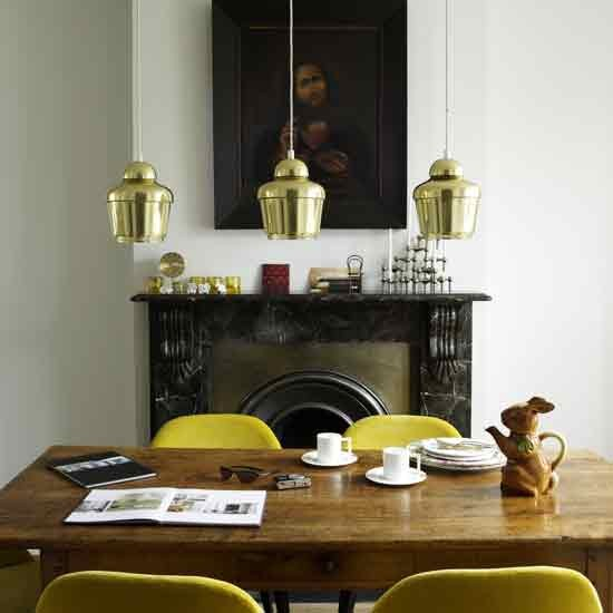 Gold dining room - housetohome