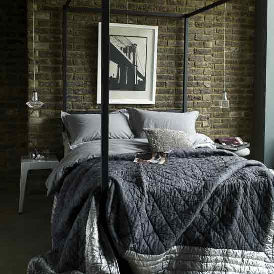 Industrial-chic bedroom Letc - housetohome