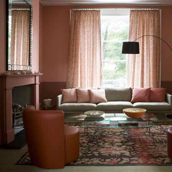 Terracotta Bedroom Designs: Terracotta Living Room